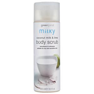 Milky body scrub kokosmelk-limoen